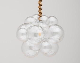 "The Organic Bubble Chandelier (16"" diameter) • Custom Cord Options• Bubble Light • Chandelier • Ceiling Light • LED Lighting"