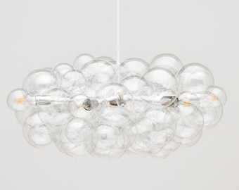 """The Round Branch Bubble Chandelier (32"""" diameter) • LED lighting • Bubble Light • Modern Lighting • Custom Size and Finish Options Available"""