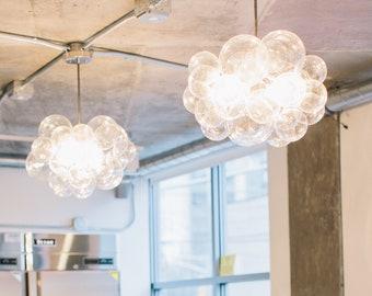"""The 25 Bubble Chandelier (18"""" diameter) • Custom Cord Options • LED Light • Ceiling Light • Modern Chandelier"""