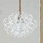 """The 31 Bubble Chandelier (22"""" diameter) • Custom Chandelier • LED lighting • Dining Room Chandelier • Ceiling Light • Bubble Light"""