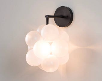 The Black Bubble Sconce -- because we can't let your ceiling have all the fun. / Hard-Wired Wall Sconce / Wall Lighting