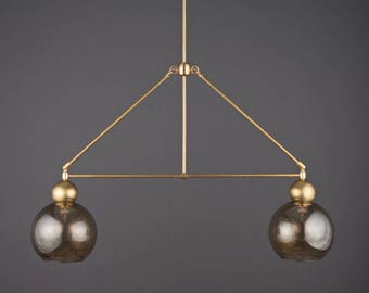 The Double Globe Chandelier • Industrial Lighting • Ceiling Light • Dining Room Light • Modern Lighting • Kitchen Light
