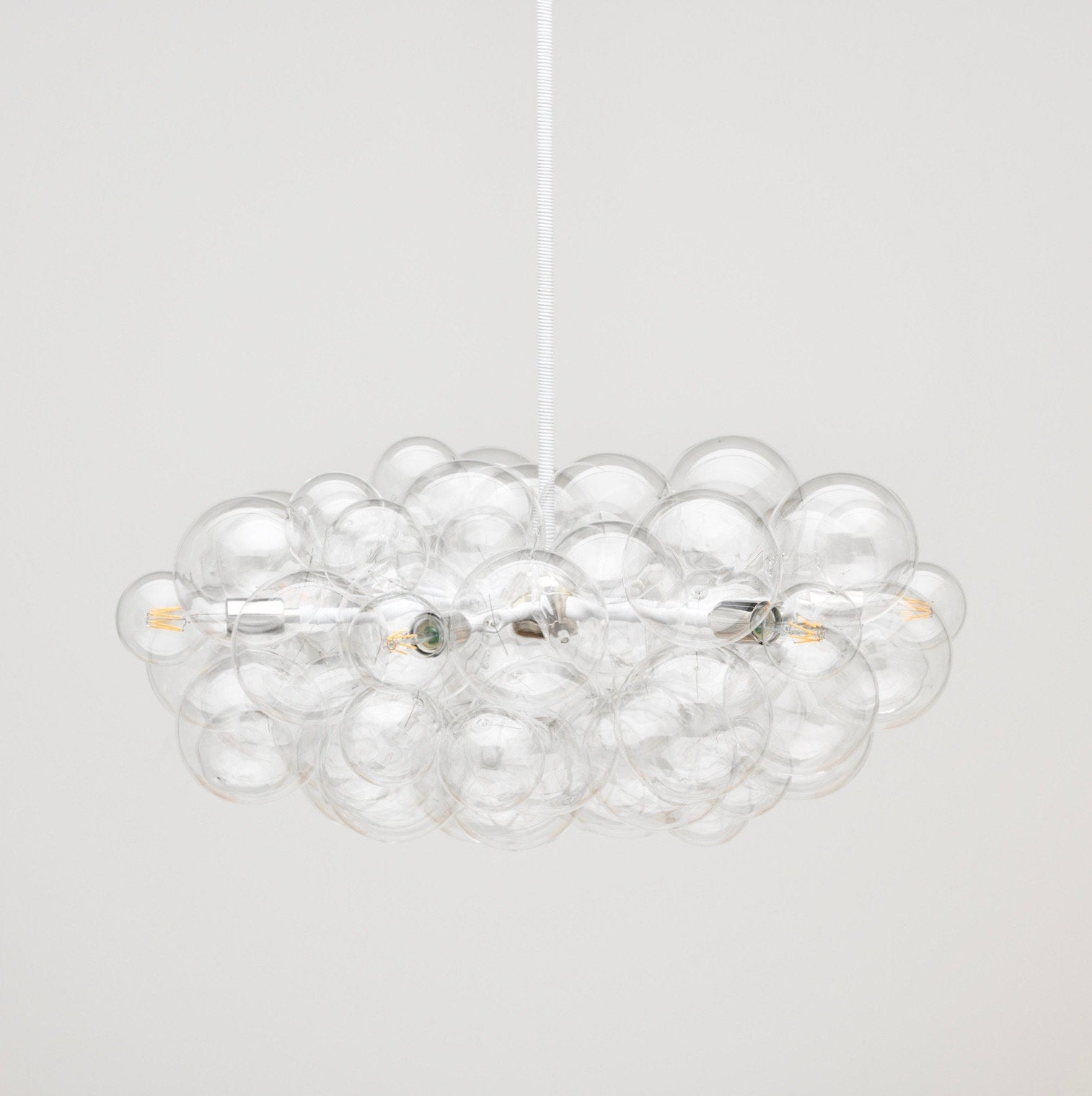 The round branch bubble chandelier 32 diameter • led lighting • bubble light • modern lighting • custom size and finish options available