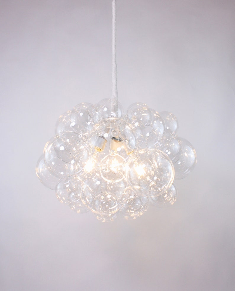 22 diameter \u2022 Custom Chandelier \u2022 LED lighting \u2022 Dining Room Chandelier \u2022 Ceiling Light \u2022 Bubble Light The 31 Bubble Chandelier