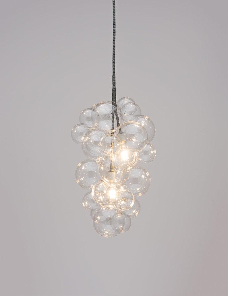 The cascade bubble chandelier 26 tall • custom cord options • led chandelier • dining room chandelier • bubble light • industrial light