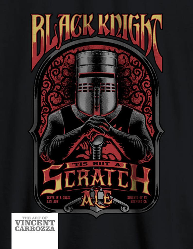 Monty Python shirt  Black Knight  Beer Ale  It's just a image 0