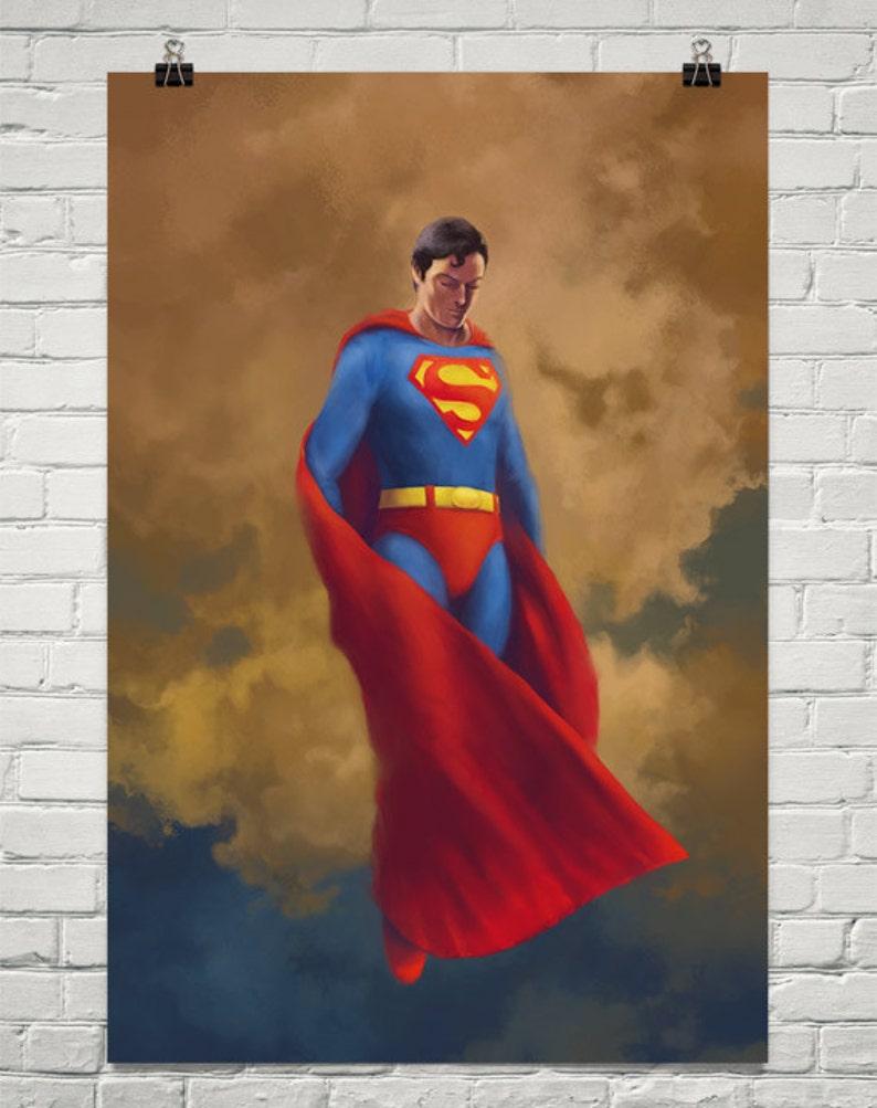 Believe Superman Print of an Original Superman Painting image 0