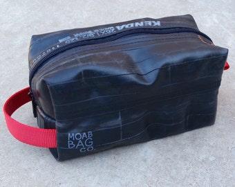 Mens Dopp Kit Toiletry Bag, Vegan Bike Tube Bag, Mens Recycled Toiletry Bag,  gift for him under 50, dad christmas gift, unique bicycle gift da8b329d56