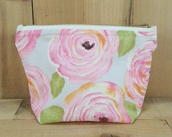 Floral Makeup Bag, Makeup Bag, Bridesmaid Gift, Cosmetic Bag, Custom Makeup Bag, Gift for Her, Gift for Mom, Toiletry Bag, Birthday Gift