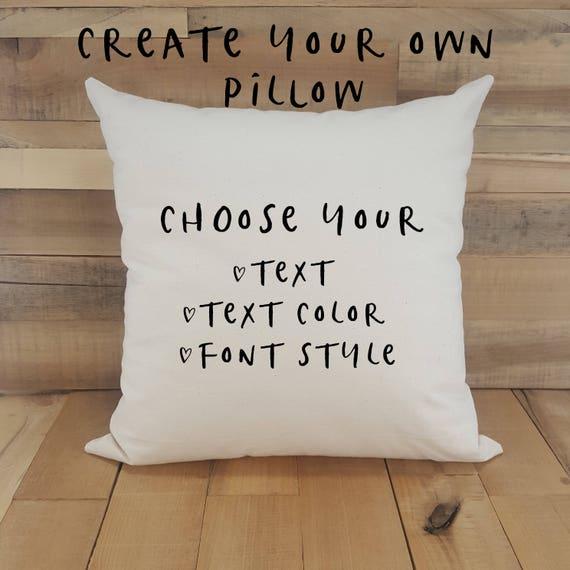 Your Text Here Custom Throw Pillow Pillows Pillow Covers Etsy Gorgeous Throw Pillow Covers Etsy