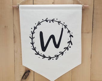 Personalized Handmade Canvas Banner, Custom Wall Banner, Last Name Wall Decor, Home Decor Gifts, Personalized Office Decor, Rustic Chic Gift