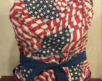 5bdbaad25e1 American flag apron