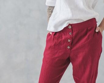 a6782c242e Womens linen pants