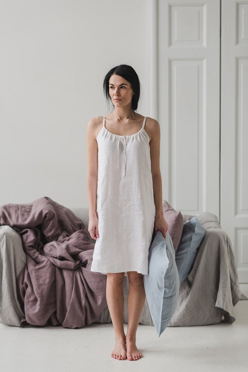 d7ccc7267e6 Linen Nightdress XL XXL Linen Nightwear Washed Linen Nightie
