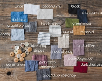 Linen Fabric Samples / Linen Fabric Swatches / Soft Linen Swatches / Washed Linen Samples / Organic Linen Palette / READY TO SHIP