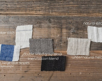 Linen Fabric Swatches / Linen Fabric Samples / Soft Linen Swatches / Washed Linen Samples / Organic Linen Palette / READY TO SHIP