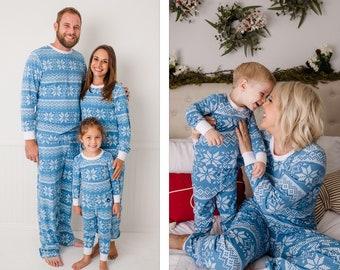 8dbf964849658 Holiday Family Matching Pajamas Blue Snowflake | Matching set | Christmas  Jammies | Holiday PJs | Adult | Men | Women | Kids | Baby