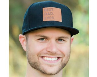 "Best Dad Ever Snapback | Black | Flat Bill Matching ""Daddy and Me"" Comfortable Baseball Cap 