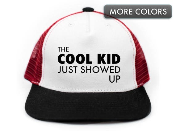 Kid s Cool Kid Snapback Trucker Hat for Kids Flat Bill  6bb4e8de270