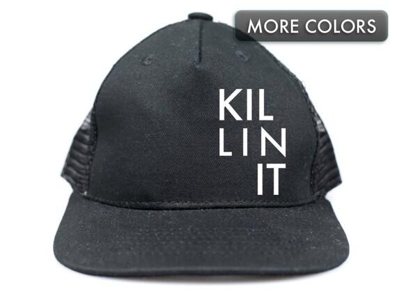 90477a0e Kid's Snapback Hat Killin It Trucker Hat for Kids | Etsy