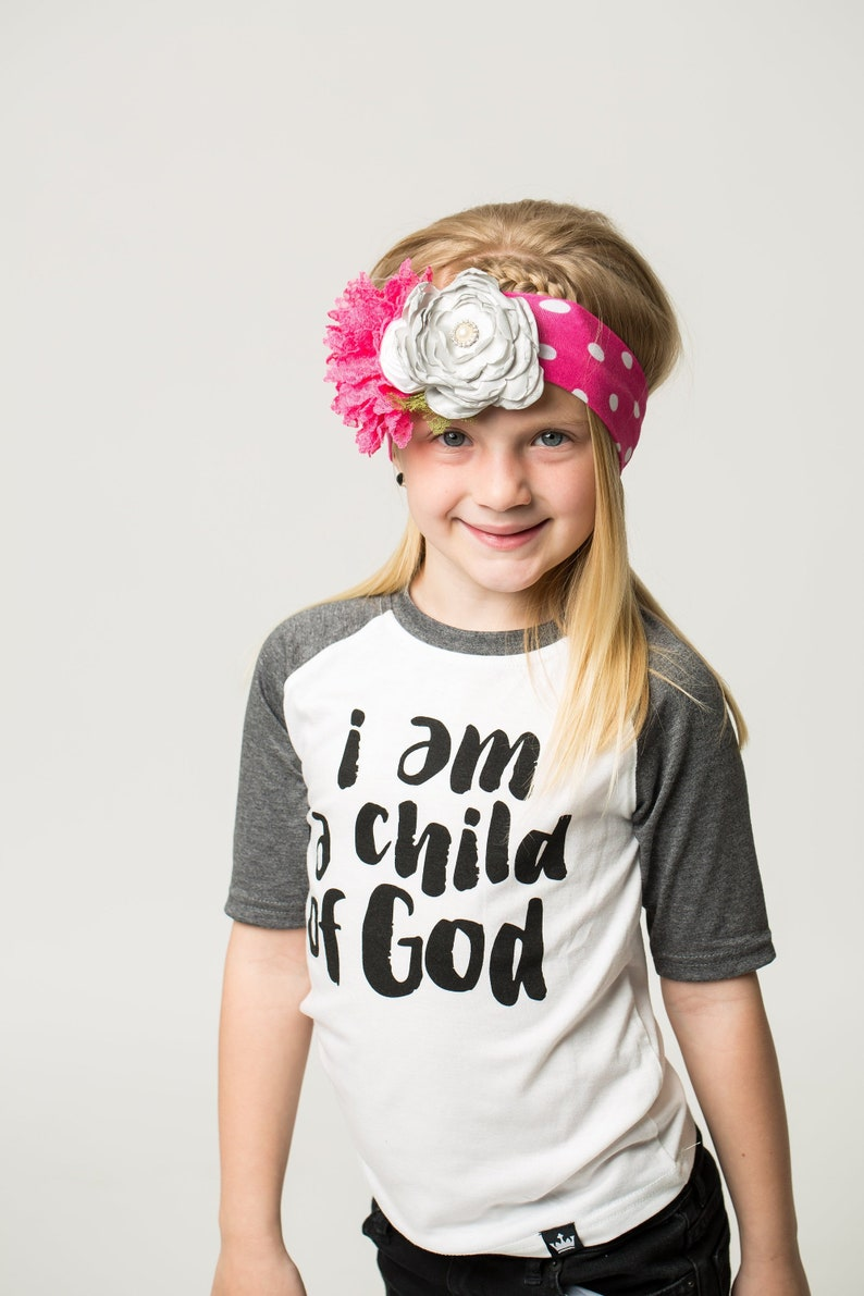 Festive Easter Children/'s Raglan Tee Easter Top I Am A Child Of God Charcoal Raglan /& Bodysuit Spring Onesie Easter Tee
