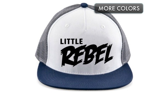 Kid s Snapback Hat Little Rebel Flat Bill Baseball Cap  cc4eafda552