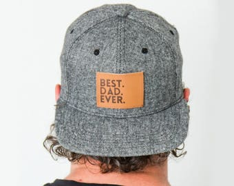"Best Dad Ever Snapback | Tweed | Flat Bill Matching ""Daddy and Me"" Comfortable Baseball Cap 