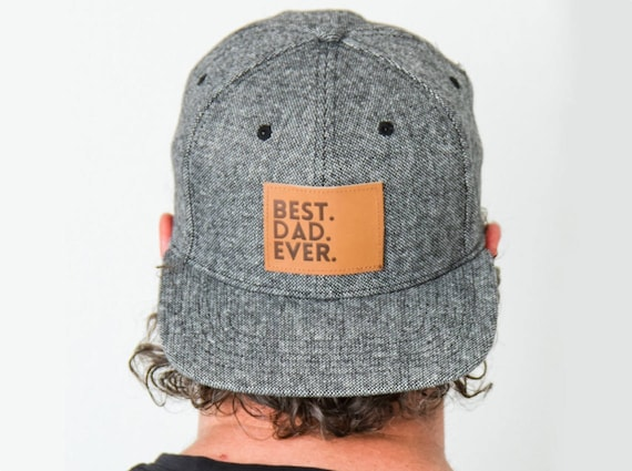 Best Dad Ever Snapback Tweed Flat Bill Matching  3ffb64c86f2
