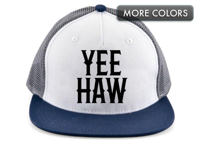 e7d1decfdd346e Kid's Snapback Hat Yee Haw Flat Bill Baseball Cap | Etsy