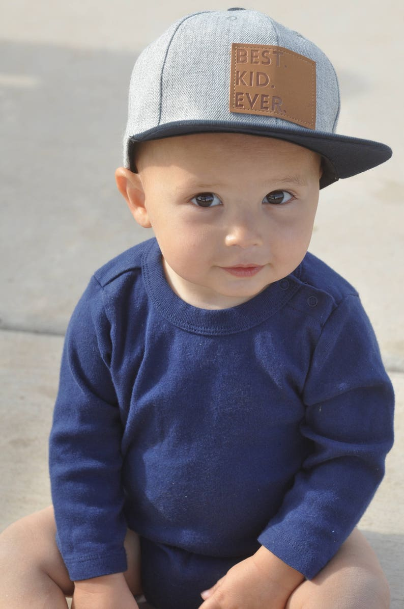 fc416ebf3 Best Kid Ever Snapback | Gray | Flat Bill Matching