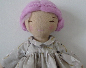 Madeleine linen doll.
