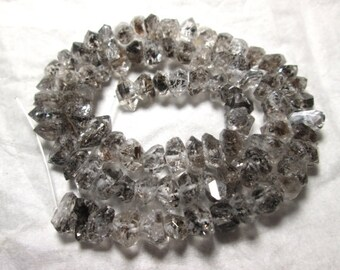 8-12 MM Herkimer Type  Double Terminated Rutialted  Quartz Necklace Pakistan