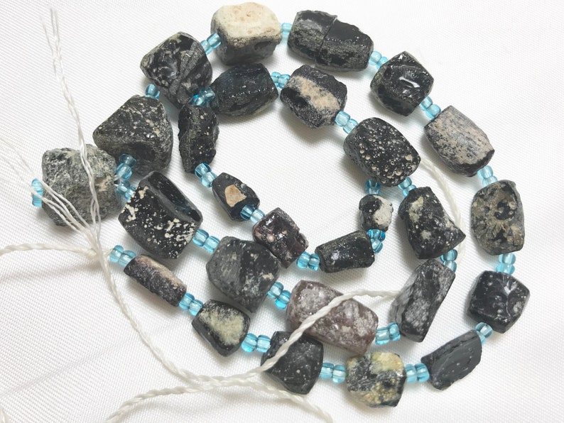 stunnning extreme patina Ancient  Glass Beads 1500-2000 Years
