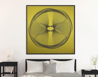 LARGE ABSTRACT PRINTS single piece on shiny golden paper designed by kubo novak