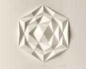 Icosa3M2 White Wall Art F...