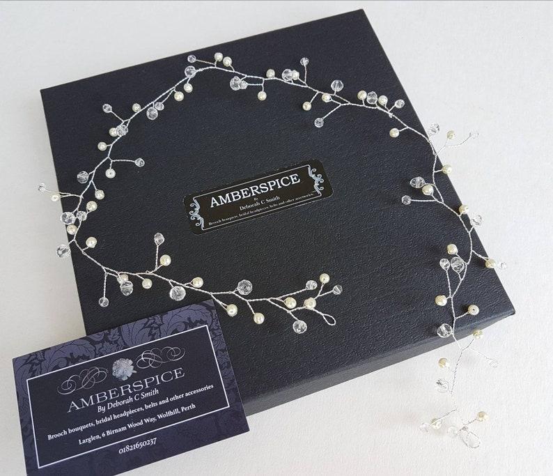 vine,rustic bridal hair vine wedding hair accessories,boho hair accessories bridal pearl and crystal hair vine bridal circlet Hair vine