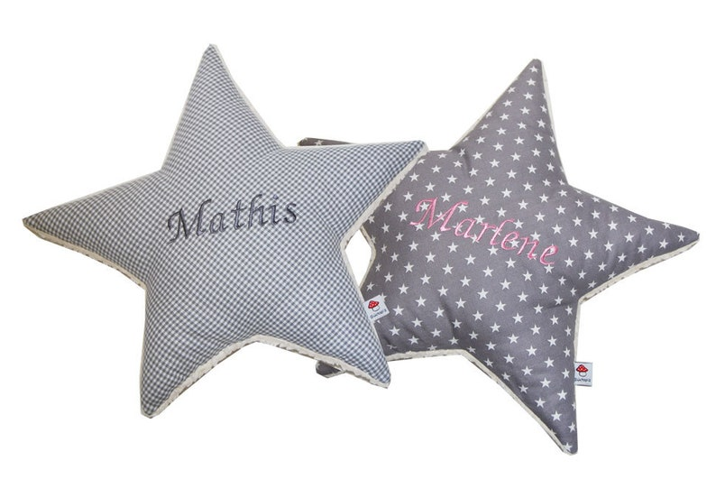 Star cushion with name personalized many colors image 0