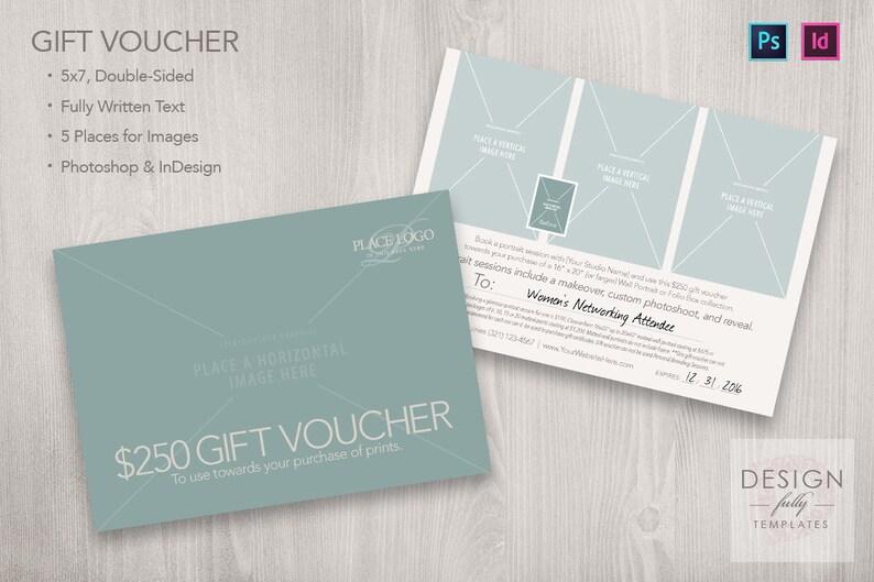 Gift Voucher Template 5x7 PSD CS6up ID CS4up