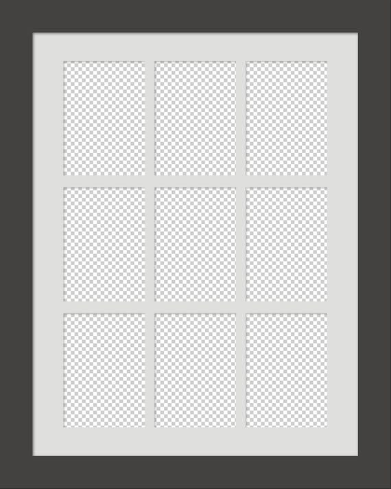 Digital 9up Gallery Series on a 24x30 Frame & Mat PSD CS4 | Etsy