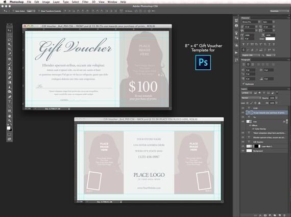 8x4 Gift Voucher Template for Photoshop CS6