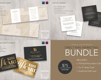 3-Piece Direct Mail Marketing Bundle for PSD & ID CS4-CC2017