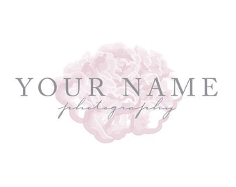Floral Logo with Single Flower Behind Text