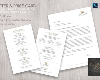 Biz-To-Biz Marketing Letter and Pricing Card - Template for ID & PSD CS4 - CC