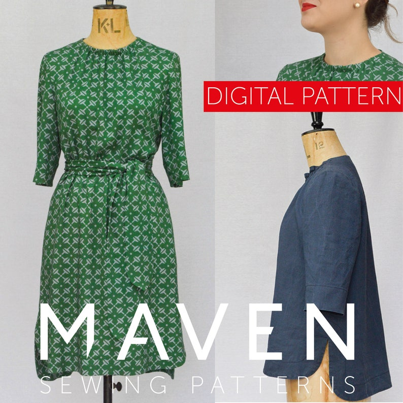 The Rochester Top and Dress PDF sewing pattern DIGITAL image 0