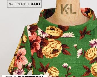 The French Dart Shift Tunic PDF sewing pattern, DIGITAL DOWNLOAD, tunic sewing pattern, womens pattern, tunic pattern, dress pattern