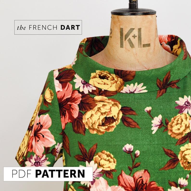 The French Dart Shift Tunic PDF sewing pattern DIGITAL image 0