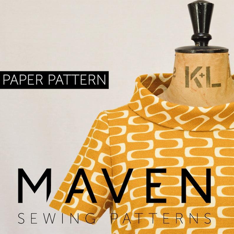 The French Dart Shift Tunic sewing pattern PRINTED PATTERN image 0