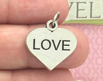 5 Silver Love Heart Charm SP0978