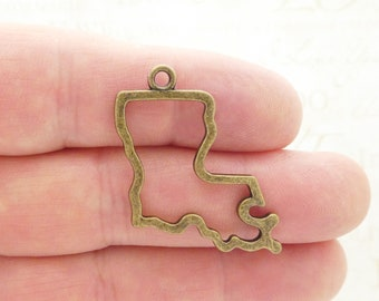 25 Silver State of Louisiana State 18x17mm C1311B