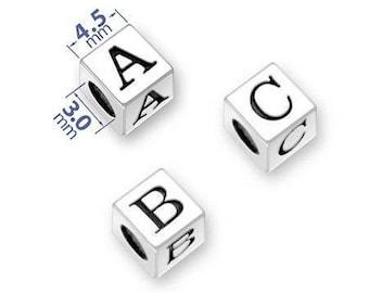 1 Box 304 Stainless Steel Letter Bead Charms Alphabet A-Z Letter Dangle Pendants